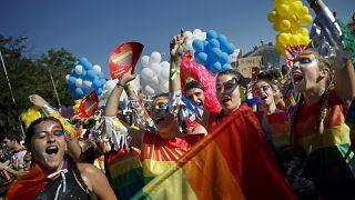 """من إحدى مسيرات """"فخر المثلية"""" في مدريد"""