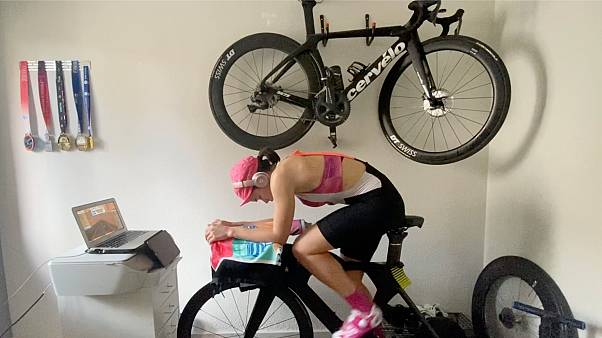 Video diary: how a professional triathlete keeps fit in lockdown