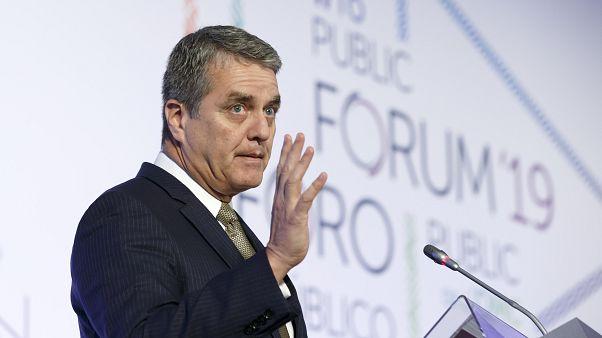 Archives : Roberto Azevedo au siège de l'OMC à Genève, en Suisse, le 8 octobre 2019