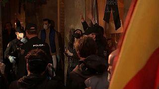 Manifestación contra el Gobierno en Madrid sin respetar el distanciamiento social