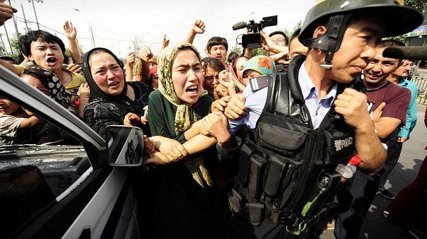 Uygurların protestosu (Arşiv 2009)