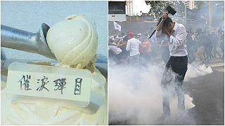 Biber gazı aromalı dondurma: Göz yaşartıcı gaz 'tatmanın' en tehlikesiz yolu
