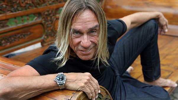 Rock and roll icon Iggy Pop poses in Miami Thursday, March 11, 2010. (AP Photo/Jeffrey M. Boan)