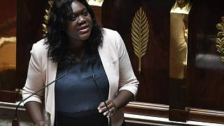 French Member of Parliament of the La Republique En Marche (LREM) party Laetitia Avia speaks during a session at the French National Assembly in Paris, on July 3, 2019.
