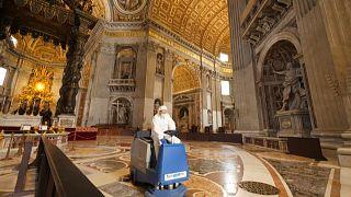 Vatican : entièrement désinfectée, la basilique Saint-Pierre rouvrira lundi