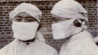 Mançurya'da salgına karşı kullanılan maskeler, 1910-1911