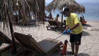 Playa de Álimos en Grecia