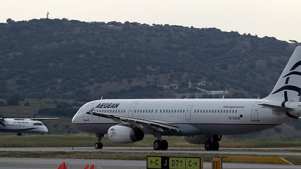 Virus Outbreak Greece Airlines