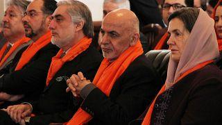 Afganistan Devlet Başkanı Eşref Gani ve Kabil İcra Heyeti Başkanı Abdullah Abdullah