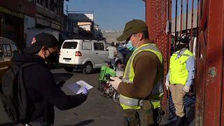 Cuarentena en Santiago de Chile ante el rápido avance de la pandemia