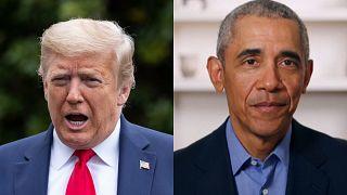 """El mandatario republicano Donald Trump acusó al expresidente Barack Obama de """"incompetente"""" tras haber realizado un discurso sobre el manejo de la pandemia del coronavirus."""