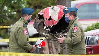 В Канале потерпел крушение военный самолёт
