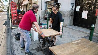 Visszatért az élet a budapesti vendéglátóhelyek teraszaira