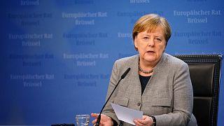 Angela Merkel az Európai Tanács februári ülésén
