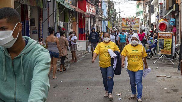 São Paulo egyik legfertőzöttebb negyede, Paraisopolis 2020. május 6-án