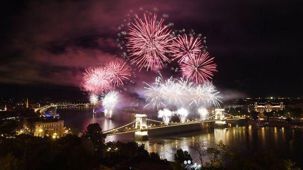 Tűzijáték Budapesten, 2019. augusztus 20-án