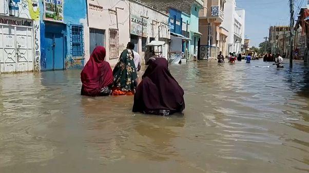 Мощное наводнение в Сомали