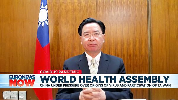 Taiwan Foreign Minister Joseph Wu speaking to Euronews.