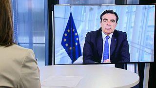 EU-Kommissions-Vizepräsident Margaritis Schinas im Euronews-Interview