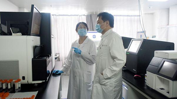 Pekin Genomik İleri Araştırma Merkezi Direktörü Sunney Xie ve ekibinden bir bilim insanı