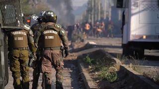 Violentas protestas en Santiago de Chile