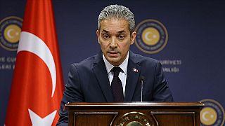 Dışişleri Bakanlığı Sözcüsü Aksoy'dan Yunanistan'da Türk bayrağı yakılmasına tepki