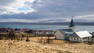 The village of Hvammstangi in northern Iceland on Thursday, April 30, 2020