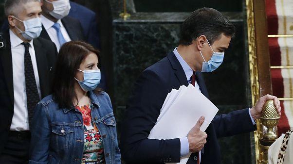 Pedro Sánchez llega al Congreso