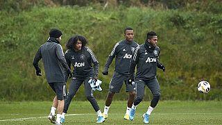 Jugadores del Manchester City entrenando el pasado mes de noviembre