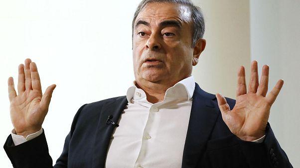 كارلوس غصن خلال مقابلة صحفية في بيروت - 2020/01/10