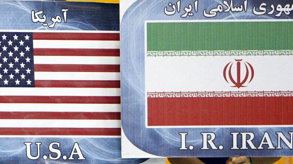 ABD-İran bayrakları (arşiv)