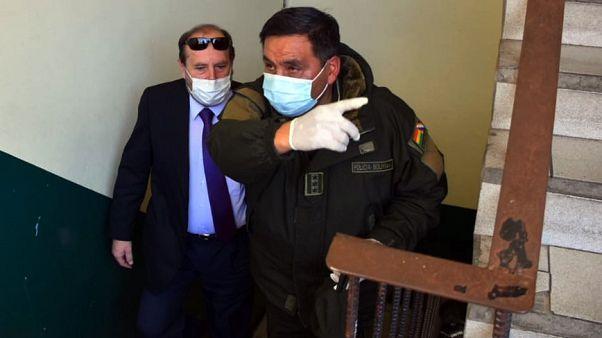 وزير الصحة البوليفي مع قائد القوات الخاصة لمكافحة الجريمة