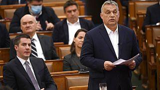 Präsident Viktor Orban im ungarischen Parlament 2020