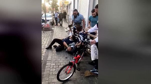 Brüksel'de polislere saldırı