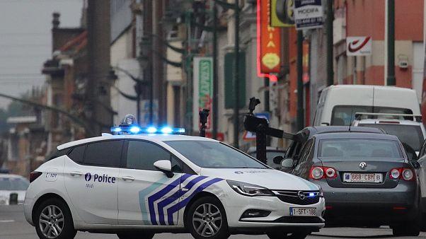 سيارة للشرطة في حي مولنبيك في بروكسل