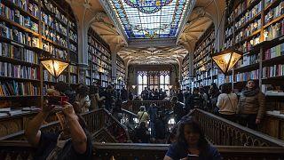 La librairie Lello à Porto, au Portugal, le 12 janvier 2019.