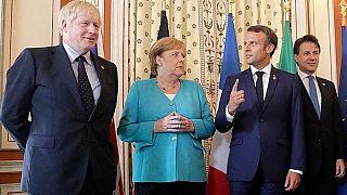Boris Johnson, Angela Merkel, Emmanuel Macron e Giuseppe Conte