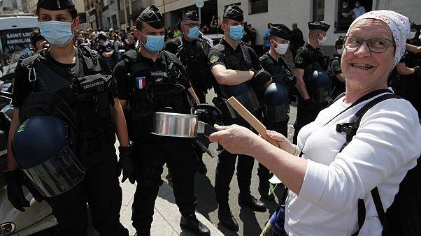 Nouvelle manifestation des personnels de santé à Paris