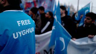Almanya'da Çin'in Uygur politikalarına karşı eylem / ARŞİV