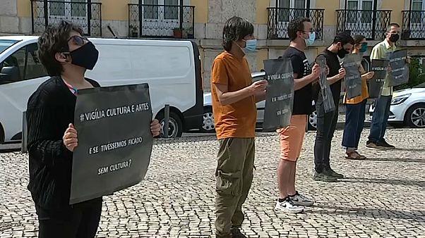 Artistas protestam em Lisboa