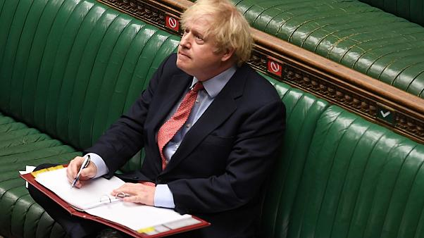 Britain's Prime Minister Boris Johnson attending Prime Minister's Questions in parliament, London, on May 20, 2020.