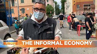 Italian man visits food bank to feed his family