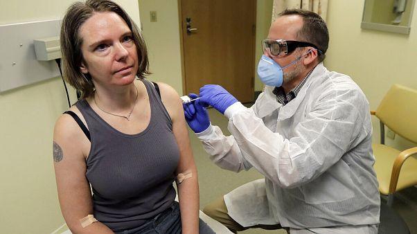 Védőoltás beadása - illusztráció