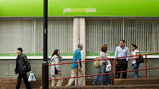 People attending a job centre plus office in the United Kingdom
