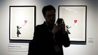 Banksy-kiállítás képei Sydneyben, tavaly szeptemberben