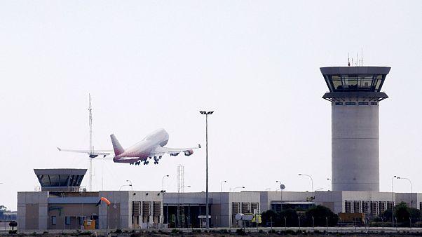Larnaca airport (file photo)
