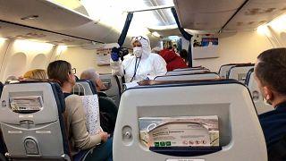 """Проверка пассажиров в самолете """"Аэрофлота"""". Аэропорт Шереметьево"""