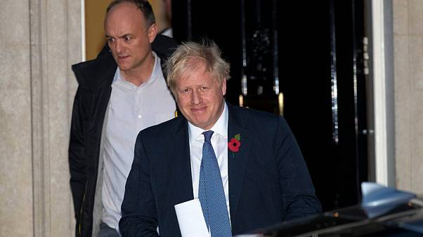Boris Johnson (r) and Dominic Cunnings (l)