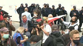 Manifestanti a Varsavia