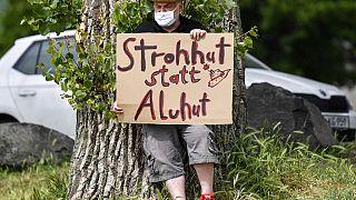 Gegendemonstrant in Köln